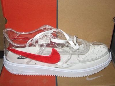 100% authentic 7c7f0 7d62e nike air force 1 clear shoes