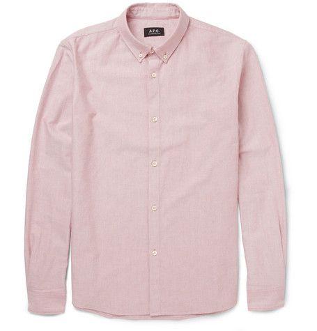A.P.C. Button-Down Collar Cotton Oxford Shirt | MR PORTER