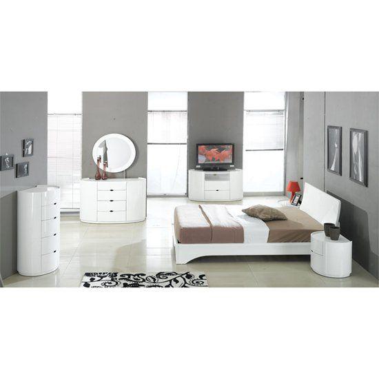 White High Gloss Bedroom Furniture | Bedroom | Grey bedroom ...