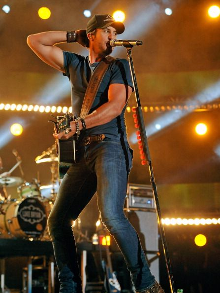 Luke Bryan is the only man allowed to have pants this tight.
