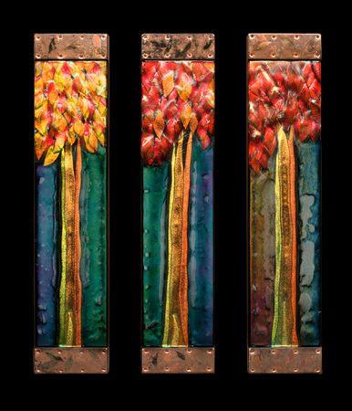 Syed Ahmad     Autumn Sunset Series 4 x 19 x 2 each panel