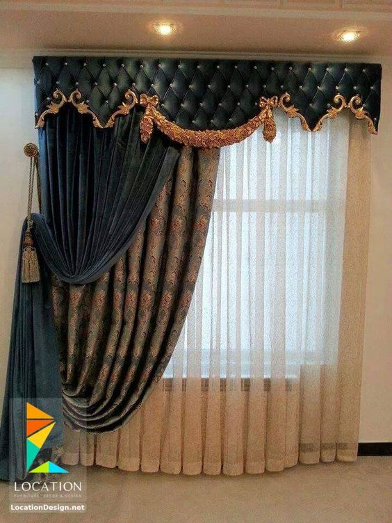 كتالوج ستائر صالونات وانتريهات من اشيك الستائر للريسبشن Luxury Curtains Curtains Elegant Curtains