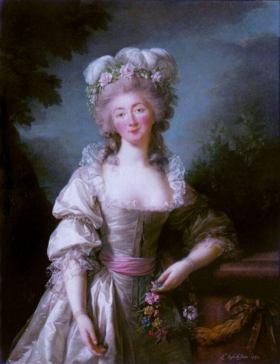Portrait de Marie-Jeanne Bécu de Cantigny, dite aussiMademoiselle de Vaubernier,comtesse du Barry, 1782 Louise Elisabeth Vigée Lebrun