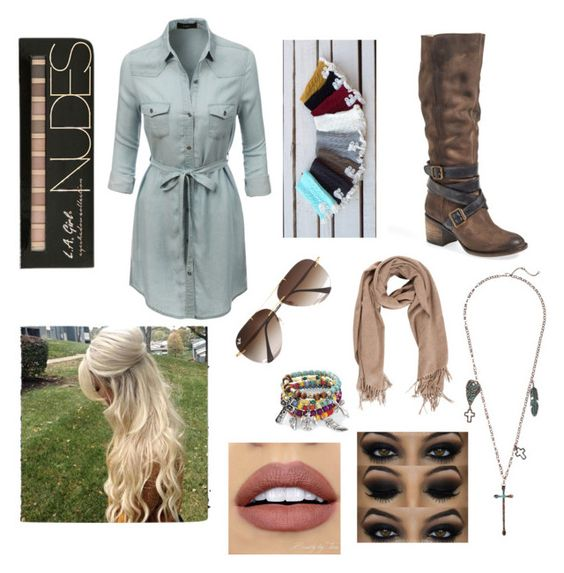 """""""Untitled #24"""" by kats-purrr on Polyvore featuring LE3NO, Steven by Steve Madden, Ray-Ban, M&F Western and NYX"""