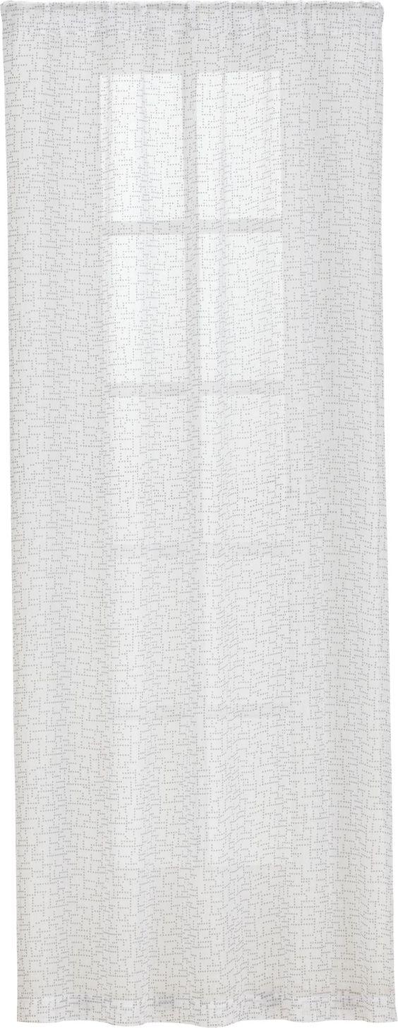 Dottie Silver Sheer Curtain Panels
