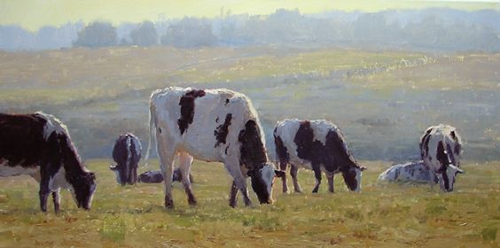 Winter Pasture by Kathleen Dunphy Oil ~ 15 x 30