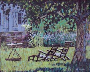 Mike Hall original 'Two Reclining Chairs':