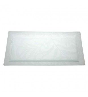Bamboo Garden Glass Tray, Rectangular