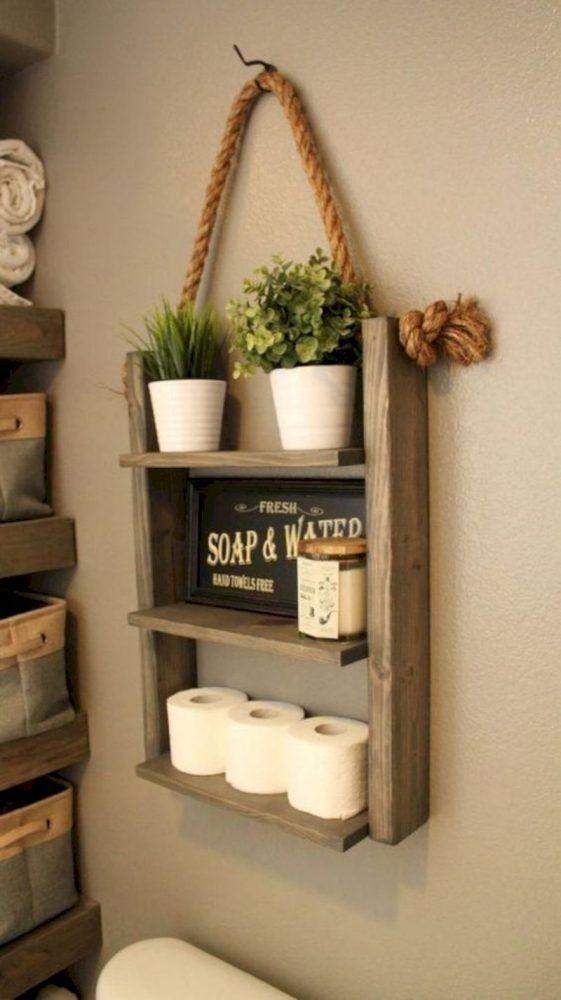 8 Affordable Diy Bathroom Storage Ideas And Wall Storage Solutions Shelf Decor Cheap Home Decor Rustic Diy