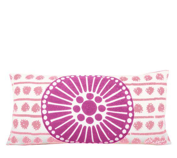 Window 10x20in Lumbar Pillow in Hot Pink  Pink by erinflett