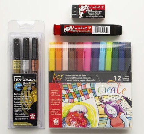 Winner Will Receive A Set Of Sumogrip Erasers Pen Touch Paint