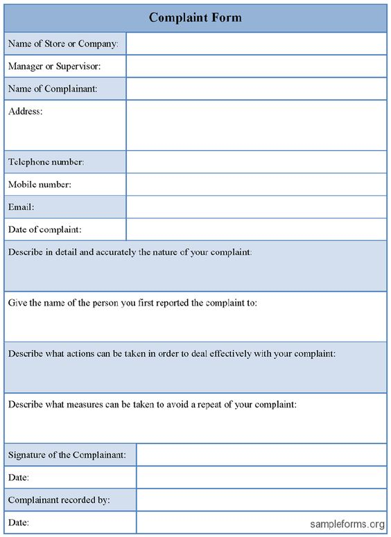 Free Customer Complaint Form Excel Template About – Free Customer Complaint Form Template