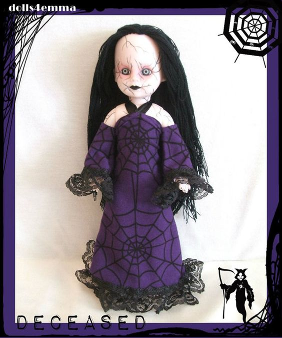 DECEASED: Handmade Goth Gown for LIVING DEAD Doll - by DOLLS4EMMA on Etsy, $16.00