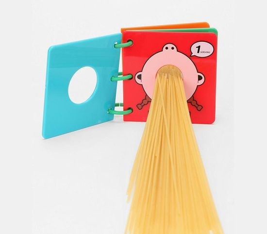 How about this Spaghetti Measuring Book, that will help you cut back on the carbs? Very handy indeed :)