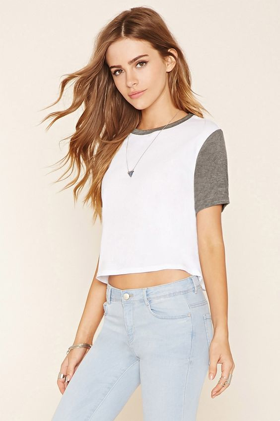 Boxy Colorblocked Tee | Forever 21 - 2049258797