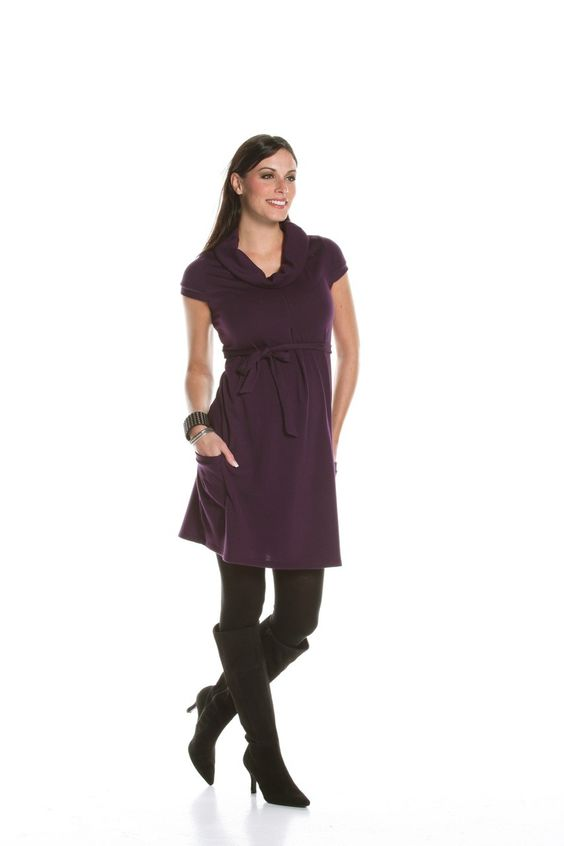 Jules & Jim 2 Pockets Sweater Dress available at Izzy Maternity.