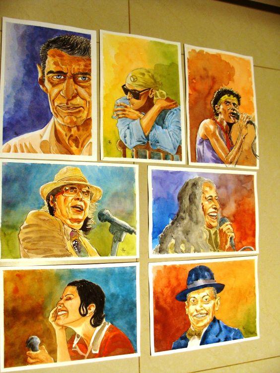 """Aqui reunidas as aquarelas que fiz para a galeria Ppposters, coleção de nome """"Grandes Artistas Brasileiros"""". No site ou na loja física é possível escolher formatos e tipos diferentes de papel. Moldura na loja física.Confiram.  http://www.ppposters.com/joao-belo-jr-ce-ct-c6a04"""