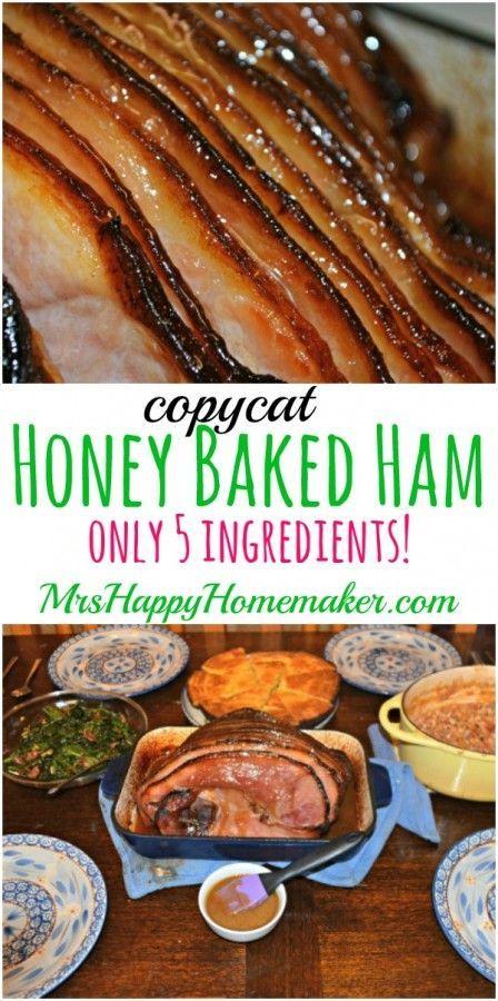 Copycat Honey Baked Ham, Only 5 Ingredients  & it's SOOOO GOOD!! | MrsHappyHomemaker.com @thathousewife