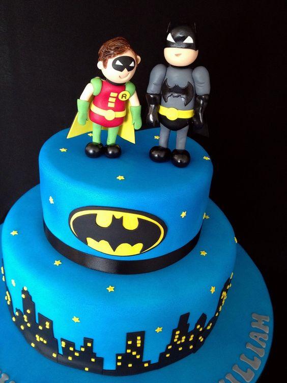 Batman and Robin Birthday Cakes Parties Pinterest Fdelsedag