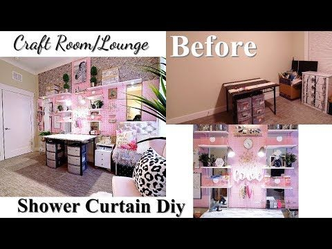 Mirror Shower Curtain Craft Lounge Room With Cardboard Seating