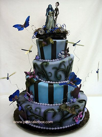 love this! (cool cake for a Halloween wedding)