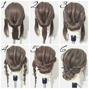 Updo Diy For Medium Length Hair Ile Ilgili Gorsel Sonucu Lowbunhairstylesshoulderlength Low Bun Hairstyles Shoulder Length Frisyrer For Langt Har Harlengde Kort Har