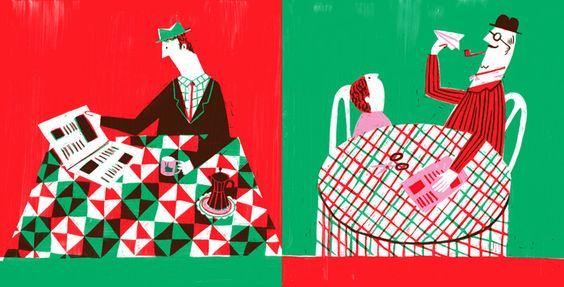 Spread from 'O Meu Avô / My Grandad' by Catarina Sobral