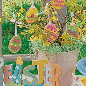 Easter Egg Sugar Cookies Recipe (We make these every year to hang on our Easter Tree- If not eaten first :)