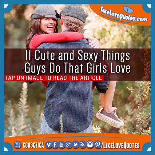 Do sexy things boys 33 Things