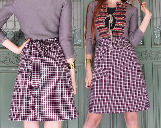 Man's shirt to cute skirt