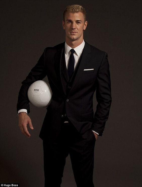 England goalkeeper Joe Hart, the face of Hugo Boss' new fragrance, Boss Bottled Unlimited.