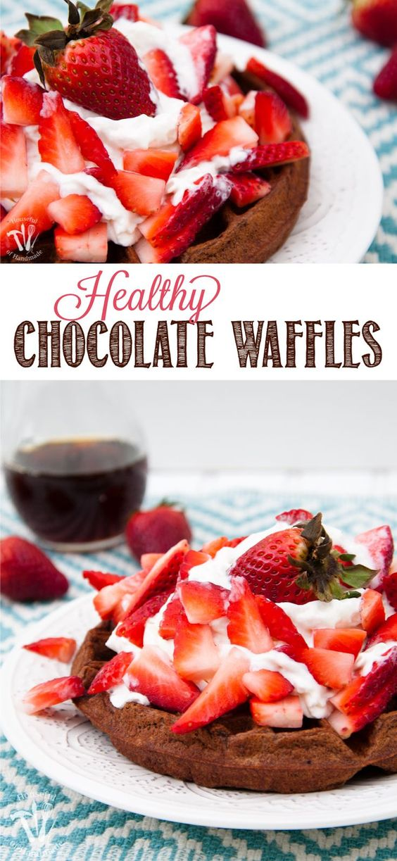 Make breakfast something special with these Healthy Chocolate Waffles. All the chocolatey goodness you love, but with a few secret ingredients to pack them full of nutrition for the whole family. | http://OHMY-CREATIVE.COM