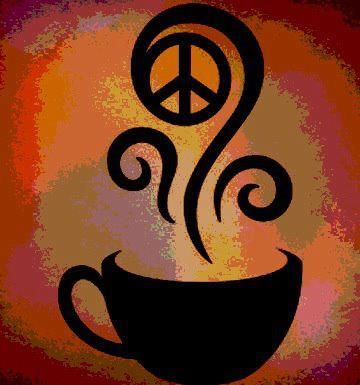 Peace found in a cup of coffee.