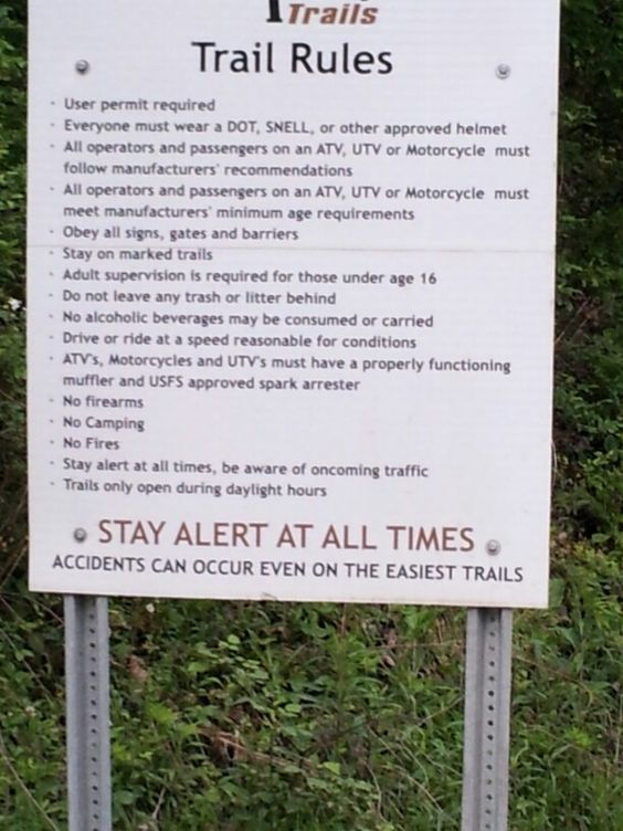 Hatfield and McCoy Trail Rules