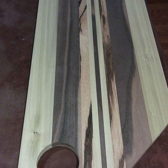 Prepped ready for final sanding #woodwork #woodworking #handmade #gottolove_this #cuttingboard #hardwork de e.s_designs