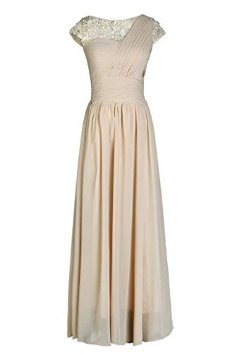 Ellames Lace Chiffon Bridesmaid Dress with Sleeves Formal Evening Gowns Champagne US 2 Ellames http://www.amazon.com/dp/B00YX8P2W6/ref=cm_sw_r_pi_dp_NqwWvb0DKP9B8