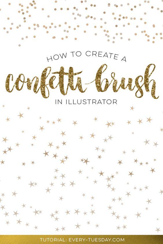 How to Create a Confetti Brush in Illustrator | Adobe, Adobe ...