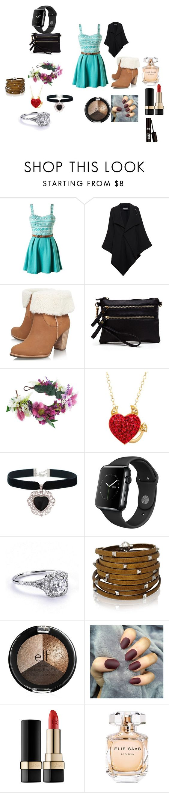 """Untitled #14"" by gosnow on Polyvore featuring Roland Mouret, UGG Australia, Rock 'N Rose, Sif Jakobs Jewellery, Dolce&Gabbana and Elie Saab"
