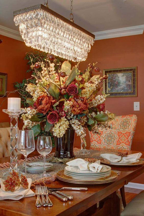 Pinterest the world s catalog of ideas for Dining room flower arrangements