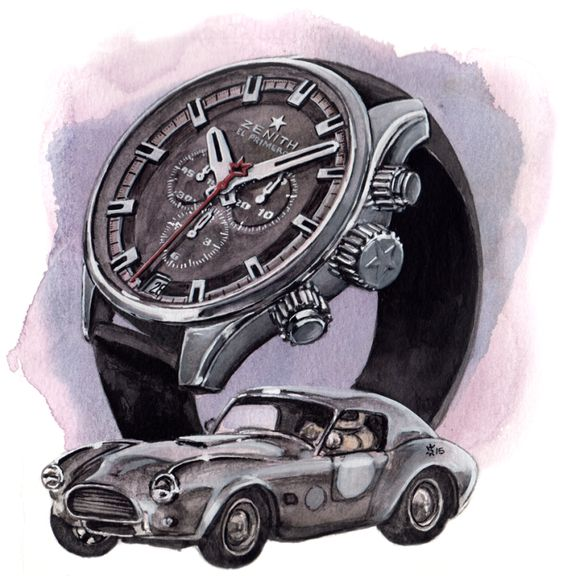 Zenith, El Primero with Classic Car by Matthew Miller (Sunflowerman)