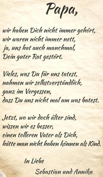 Pin Von Jenni Helzer Auf Izuchenie Nemeckogo Yazyka Vater Geburtstag Papa Geburtstag Spruche Vater Spruche