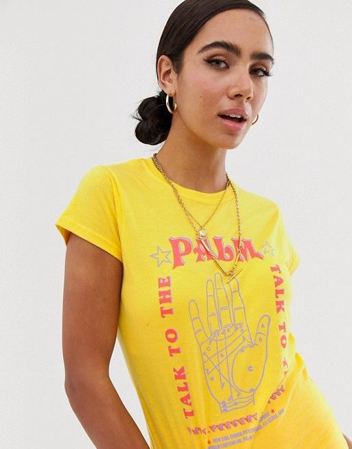 New Girl Order shrunken t-shirt with tarot graphic   ASOS