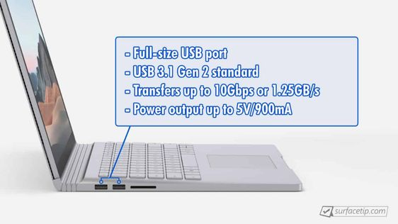 Does Surface Book 3 Have Usb A Port Usb Surface Port