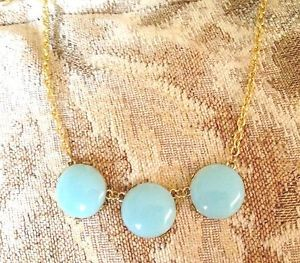Carolina Blue Bubble Necklace