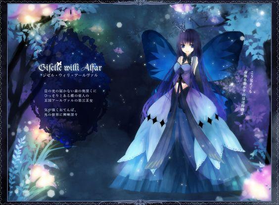anime girl as a butterfly