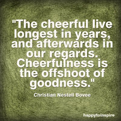 the cheerful live the longest