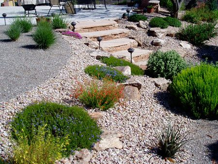Waterwise landscapes inc rock gardens love the walkway for Landscaping rocks and plants