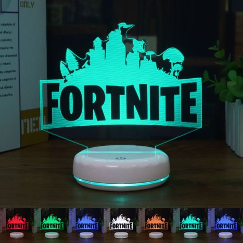 3d Lamp Fortnite Sign Led Night Light 7 Color Touch Base Table Desk Lamp Gift Led Night Light 3d Lamp Night Light