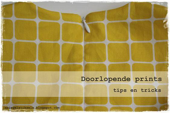 doorlopende prints - tips en trics by - - spiegel aan de wand - -, via Flickr
