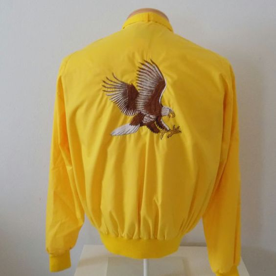 Vintage 80s Members Only Style Yellow Jacket Cutty Sark by Vetera